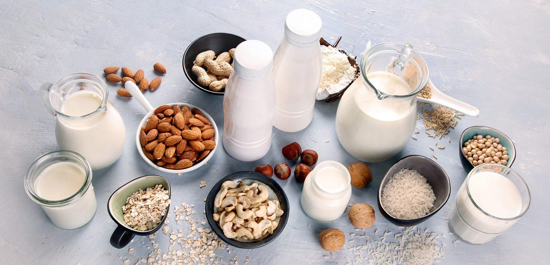 Offering various plant-based milk alternatives such as Almond Milk, Oat Milk, Soy Milk, Coconut Milk and Hazelnut Milk
