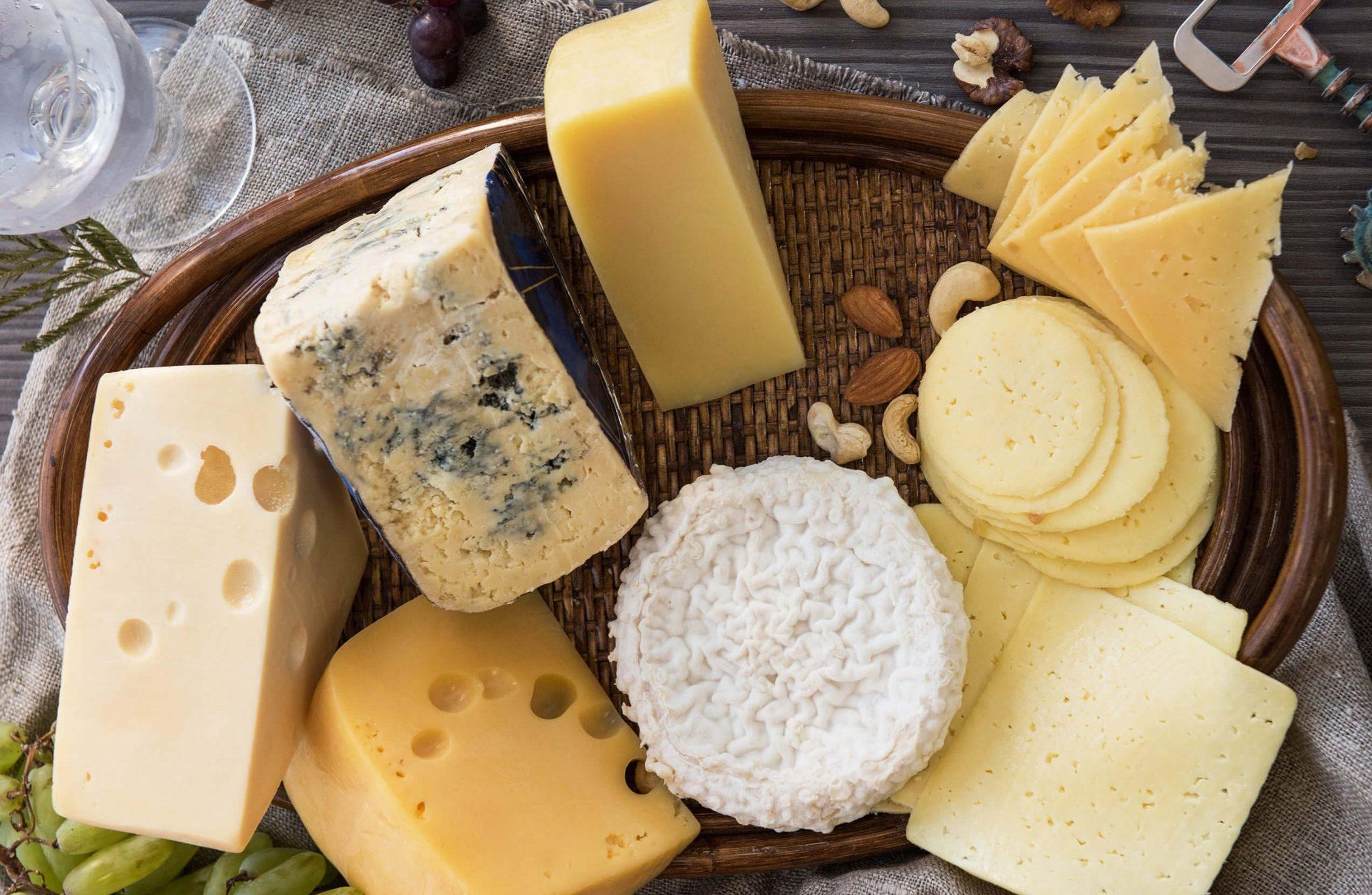 Shredded cheese, cheese block, different form of cheese – mozzarella, edam, feta, halloumi, cheddar, cream cheese